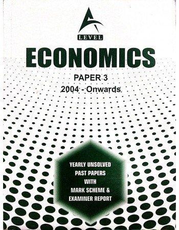 A Level Economics Paper 3 Unsolved Past Papers 2020