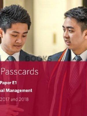 bpp cima e1 organisational management passcards 2018