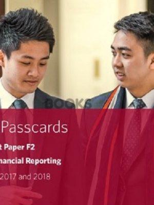 bpp cima f2 advanced financial reporting passcards 2018