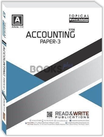 Accounting A2 Level P 3 Topical Solved