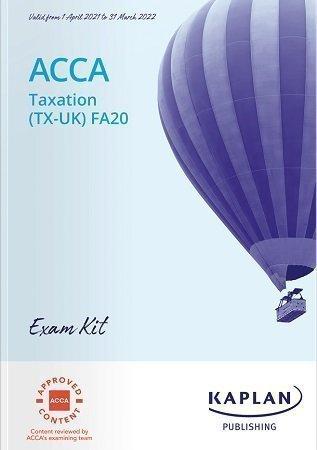 Kaplan ACCA Taxation TX FA20 Exam Kit booksplus