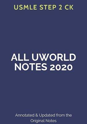 USMLE step 2 ck All Uworld Notes 2020