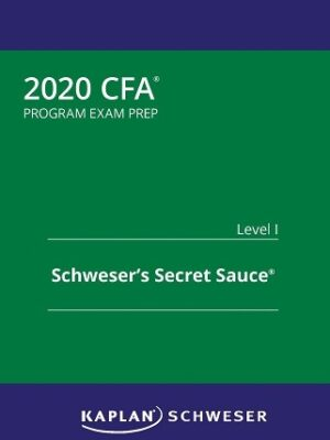Kaplan CFA level 1 2020 Secret Sauce