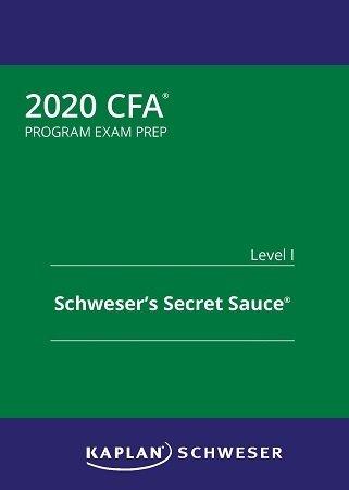 Kaplan CFA level 1 2020 Secret Sauce