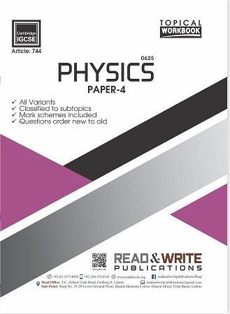 Physics IGCSE Paper-2 Topical Workbook Art #744