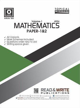 Math O Level Volume-1 Paper 1&2 Topical Workbook Art 263