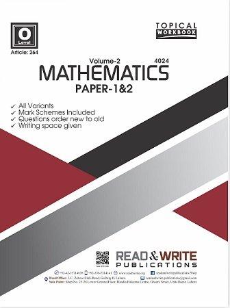Math O Level Volume-2 Paper 1&2 Topical Workbook Art 264