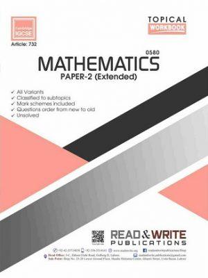 Mathematics IGCSE Paper-2 Extended Topical Workbook Art 732