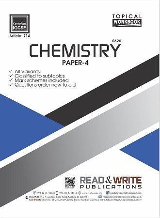 Chemistry IGCSE Paper-4 Topical Workbook Art 714