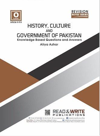 History Culture & Government of Pakistan Teacher Notes Art 414