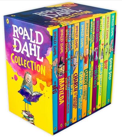 roald dahl books set box