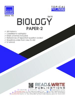 Biology IGCSE Paper 2 Topical Past Paper Art 702
