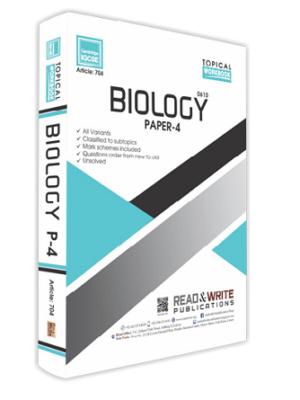 Biology IGCSE Paper 4 Workbook Topical Art 704