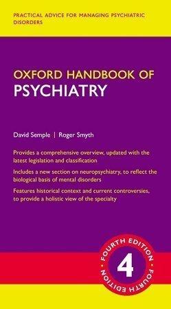 Oxford Handbook of Psychiatry 4th Edition