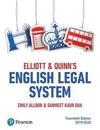 Elliot Quinn English Legal System 20th Edition